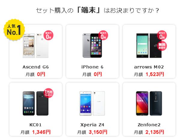 端末0円キャンペーン