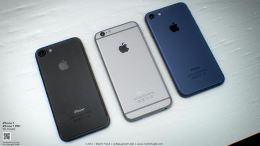 iPhone7フォーマルブラック、ディープブルー