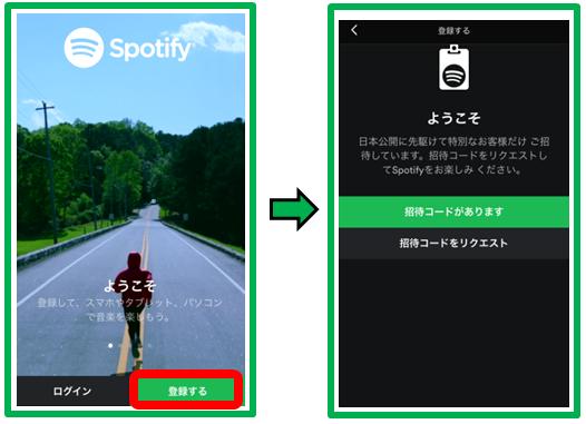 Spotify登録手順