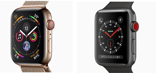 Apple Watch Series4とSeries3