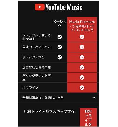 YouTube Musicアプリ起動