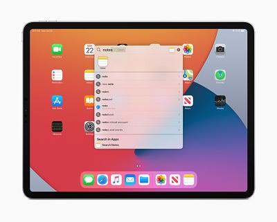 iPadOS14ユニバーサル検索