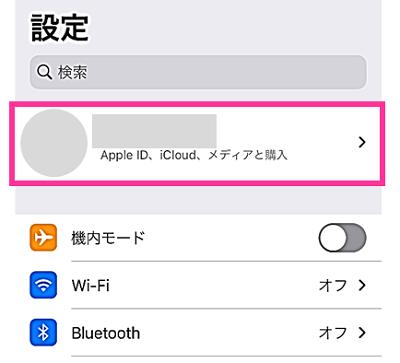 Apple IDの設定画面を開けない